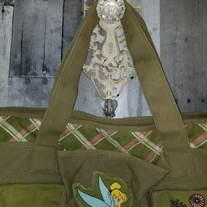 Disney Bags - Army green canvas Disney tinkerbell tote purse
